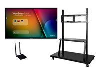 ViewSonic ViewBoard IFP8650-E2 Interactive Flat Panel Education Bundle with Trolley Cart