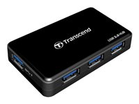 Transcend HUB3 - Concentrateur (hub) - 4 x SuperSpeed USB 3.0 - Ordinateur de bureau