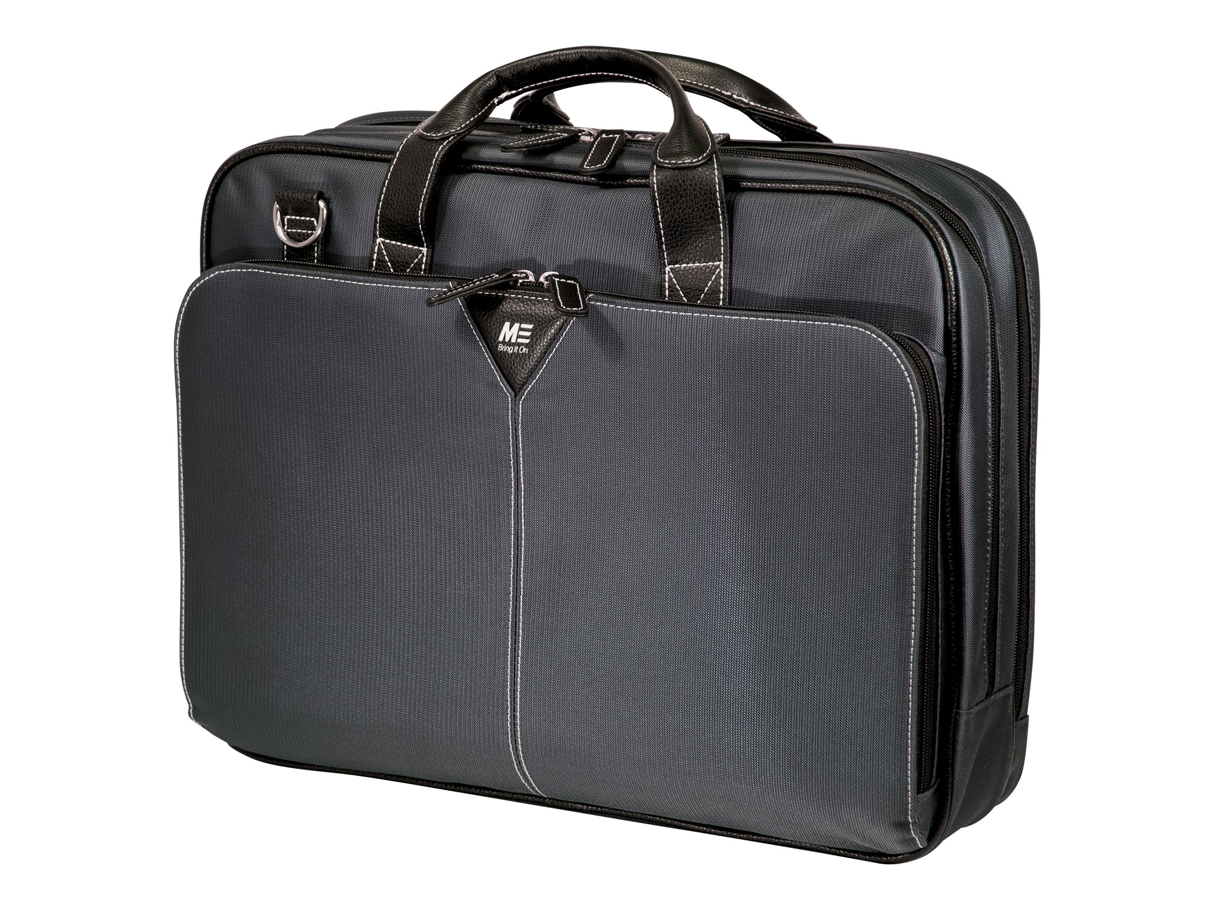"""Mobile Edge The Graphite 16"""" Nylon Briefcase notebook carrying case"""