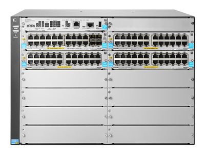 HPE Aruba 5412R 92GT PoE+ / 4SFP+ (No PSU) v3 zl2 Switch managed
