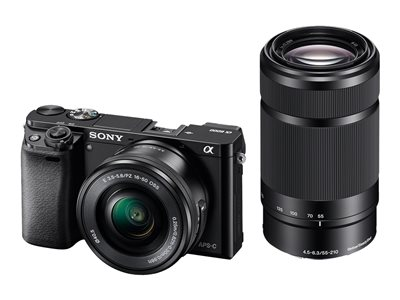Sony a6000 ILCE-6000Y - digital camera 16-50mm and 55-210mm lenses