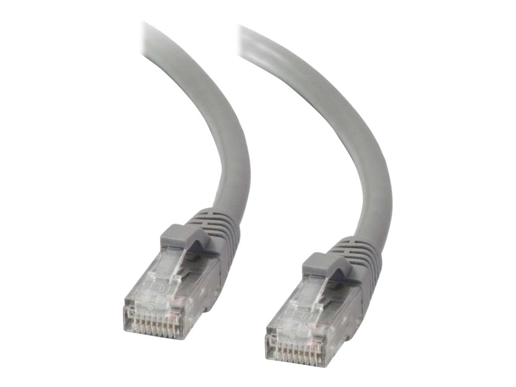C2G Cat5e Booted Unshielded (UTP) Network Patch Cable - patch cable - 2 m - gray