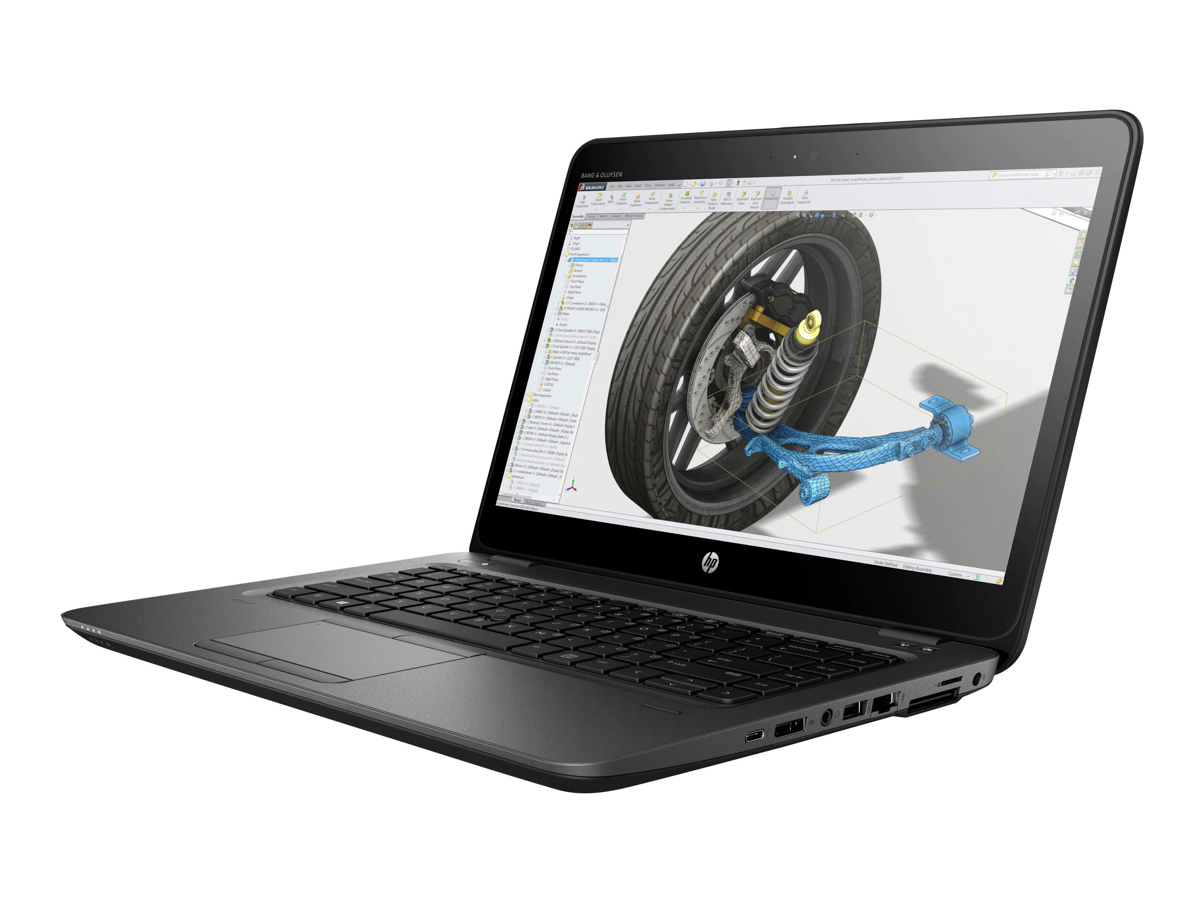 HP ZBook 14u G4 Mobile Workstation - Core i5 7200U / 2.5 GHz - Win 10 Pro 64-Bit - 8 GB RAM - 500 GB HDD - 35.6 cm (14