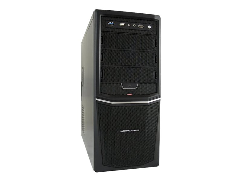 LC Power Pro-Line LC-924B - Midi Tower - ATX 420 Watt (ATX12V 1.3) - Schwarz - USB/Audio