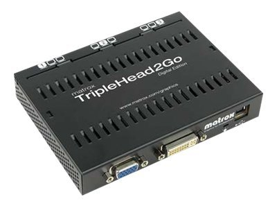 Matrox Graphics eXpansion Module TripleHead2Go - Digital Edition - Videokonverter - DVI, VGA