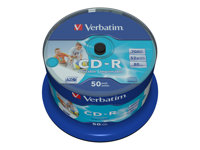 Verbatim DataLifePlus - 50 x CD-R - 700 Mo 52x - surface imprimable large - spindle