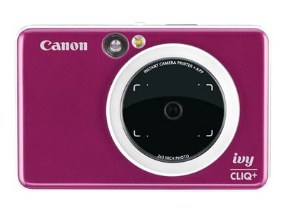 Canon ivy CLIQ+ Digital camera compact with photo printer 8.0 MP Bluetooth ruby