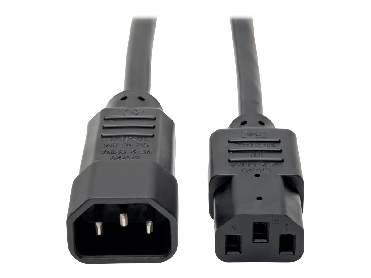 Tripp Lite 4ft Computer Power Cord Extension Cable C14 to C13 10A 18AWG 4' - power extension cable - 1.2 m