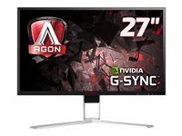"""AOC Gaming AG271QG - Écran LCD - 27"""" - 2560 x 1440 - IPS - 350 cd/m² - 1000:1 - 4 ms - HDMI, DisplayPort - haut-parleurs - avec Re-Spawned 4 Year Advance Replacement and Zero Dead Pixel Guarantee / 1 Year One-Time Accident Damage Exchange"""