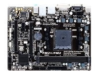 Ultra Durable F2A68HM-HD2 Micro ATX AMD A68H Socket FM2+ 4 x SATA 6Gb/s RAID Motherboard with Built-in Audio, LAN, 2 DIMM Slots, 2 PCI Express 3.0 x16 Slots, Single PCI Express 2.0 x1 Slot, Single PCI Slot and Max. Memory of 64GB (Black)