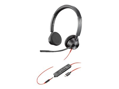 Poly Blackwire 3325 - 3300 Series - Headset - On-Ear - kabelgebunden - 3,5 mm Stecker, USB-C