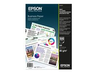 Epson Business Paper - A4 (210 x 297 mm) - 80 g/m² - 500 feuille(s) papier uni - pour Epson L386; EcoTank ET-16500, L1455; Expression Premium XP-540, 900; WorkForce Pro WF-C869