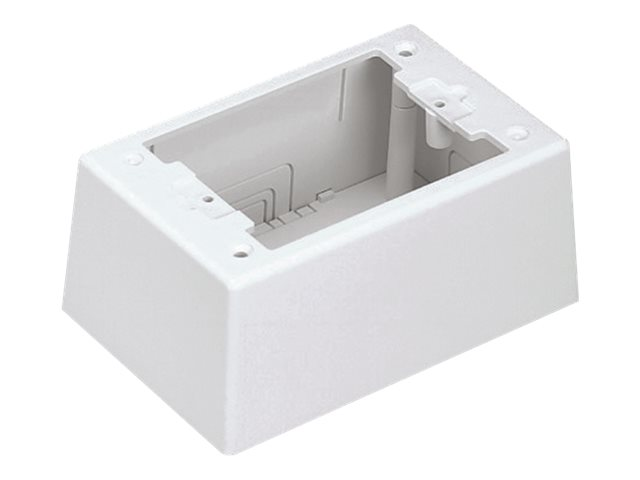 Panduit Single Gang Two-Piece Screw Together Intermediate Outlet Box - cable raceway junction box