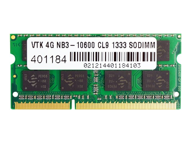 VisionTek - DDR3 - 4 GB - SO-DIMM 204-pin - unbuffered