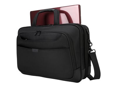Targus BlackTop Deluxe Briefcase with DOME Protection Notebook carrying case 17INCH black