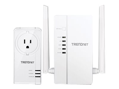 TRENDnet WiFi Everywhere Powerline 1200 AV2 Kit TPL-430APK Bridge 3-port switch GigE