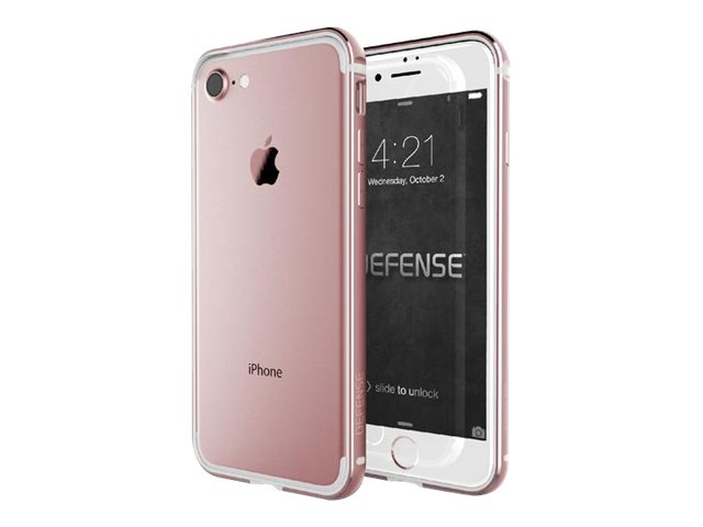 x doria defense edge coque de protection pour iphone 7 or rose coques iphone. Black Bedroom Furniture Sets. Home Design Ideas