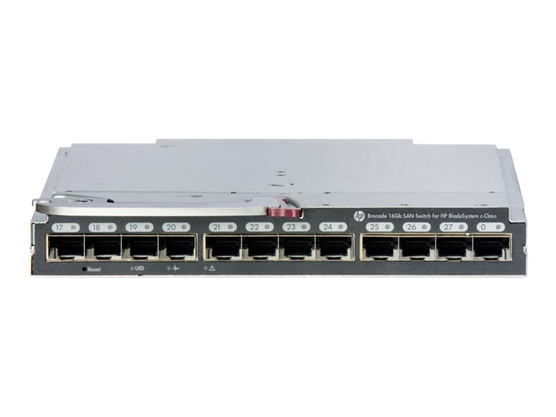 Brocade 16Gb/28 SAN Switch for HP BladeSystem c-Class - switch - 28 ports - managed - plug-in module