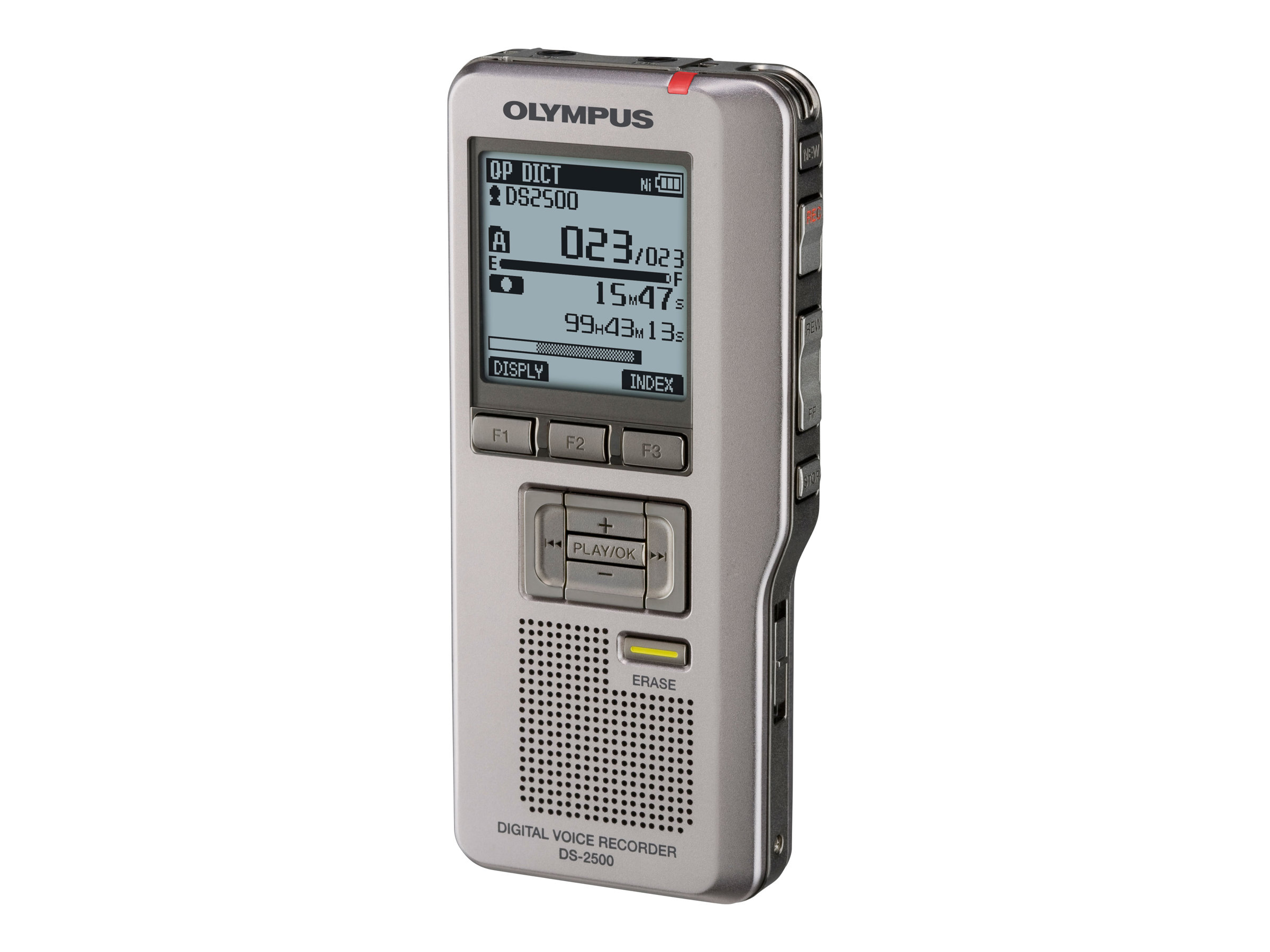 Olympus DS-2500 Dictation & Transcription Kit - Voicerecorder - 2 GB - Silber