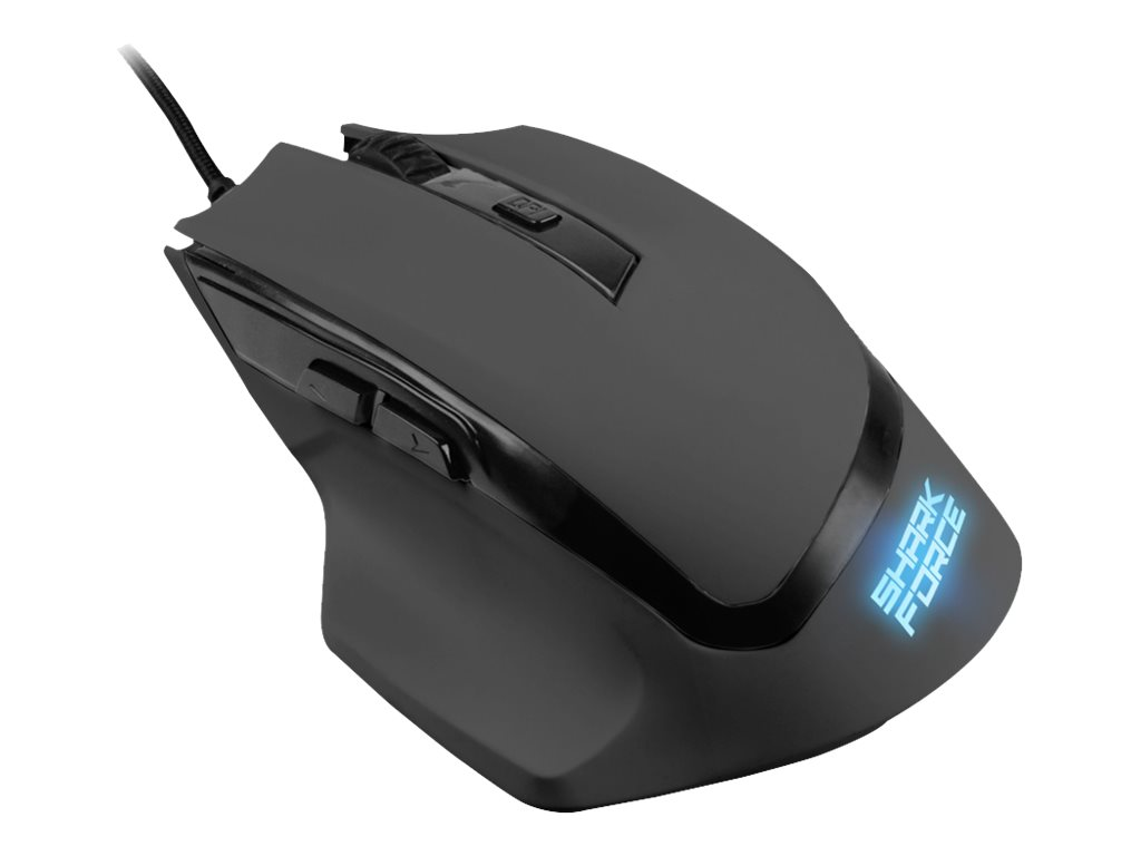 Sharkoon SHARK Force - Maus - optisch - 6 Tasten - verkabelt - USB