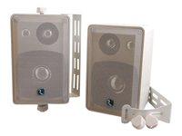 C2G Wall/Ceiling-Mount Speakers 3-way light gray image