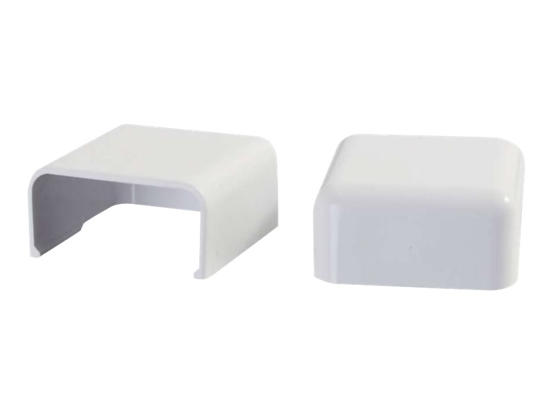 C2G 2 Pack Wiremold Uniduct 2900 Blank End Fitting - White - cable raceway blank end fitting