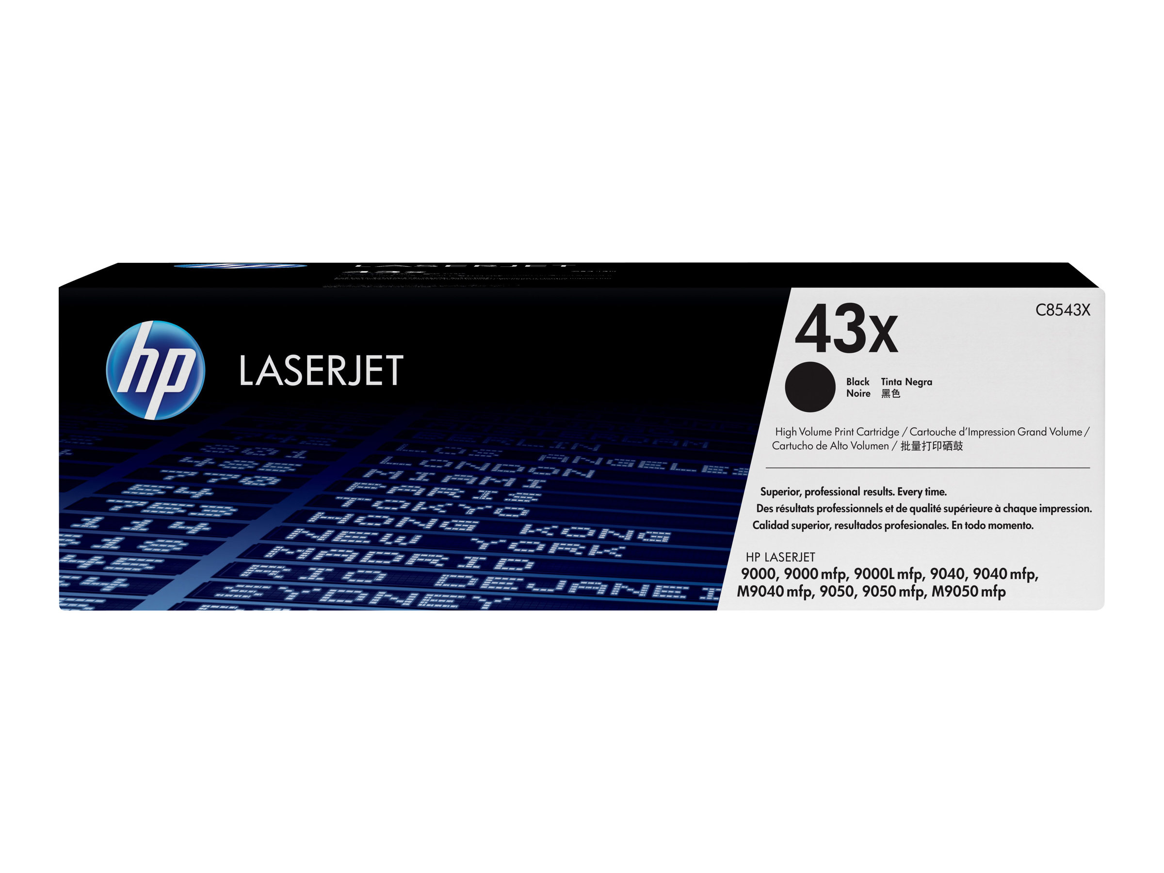 HP 43X - High Yield - black - original - LaserJet - toner cartridge (C8543X)
