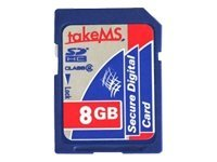 takeMS - Flash-Speicherkarte - 8 GB - Class 6 - SDHC