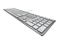 CHERRY KC 6000 SLIM - Clavier - USB - France - commutateur à clé : CHERRY SX - argent