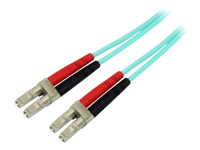 StarTech.com Cable / Cordon fibre optique - Jarretiere optique duplex multimode 50/125 OM3 1m - LC vers LC - LSZH - M/M - Aqua