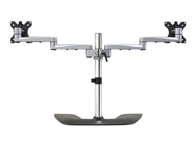 StarTech.com Dual Monitor Stand, Ergonomic Desktop Monitor Stand for up to 32