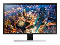 "Samsung UD590 Series U28E590D - LED monitor - 28"" - 3840 x 2160 4K UHD (2160p) - TN - 370 cd/m² - 1 ms - 2xHDMI, DisplayPort - black, shiny"