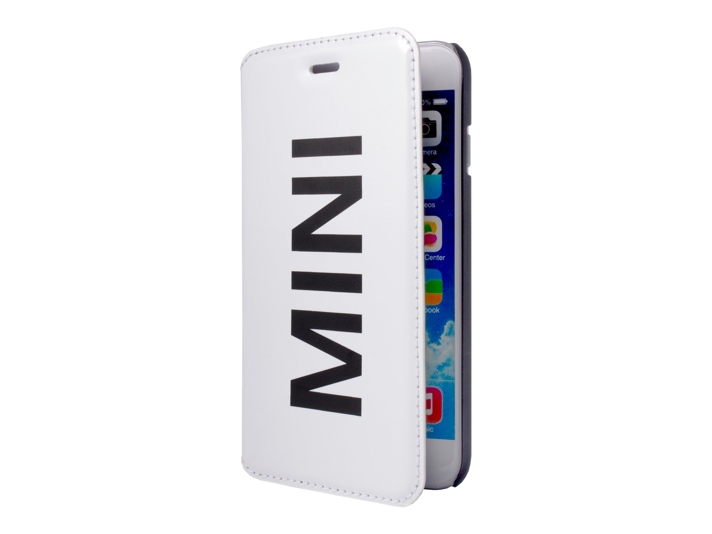 MINI Folio case - Protection à rabat  pour Apple iPhone 5, 5s - vinyle blanc