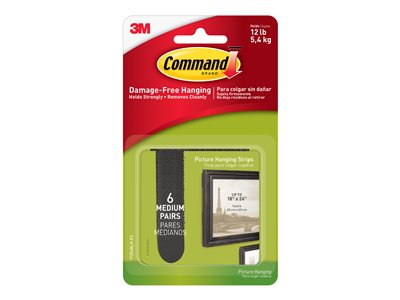 Command Picture Hanging Strips Medium Mounting adhesive black foam (pack of