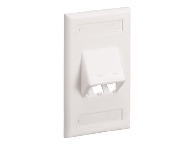 Panduit MINI-COM Classic Series Sloped Faceplates with Label and Label Cover - faceplate