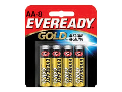 Energizer Eveready Gold battery - 8 x AA type - alkaline