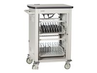 Black Box Single Frame with Medium Slots and Sliding Door Cart for 27 tablets