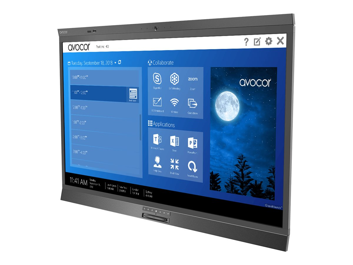 "Avocor AVW-6555 - 165.1 cm (65"") Klasse LED-Display - interaktiv - mit Touchscreen (Multitouch) / Kamera - 4K UHD (2160p) 3840 x 2160 - direkt beleuchtete LED"