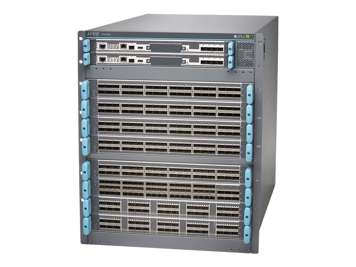 Juniper Networks PTX Series PTX10008 - Base - router - rack-mountable - with Juniper Networks 1 x Routing Engine, 5 Swi…