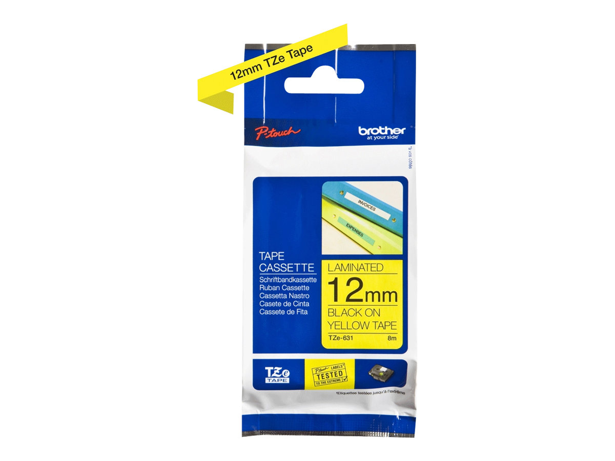 Brother TZe-631 - laminated tape - 1 roll(s) - Roll (1.2 cm x 8 m)