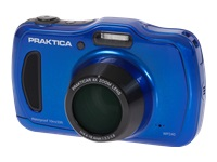 Praktica Luxmedia WP240 - Digital camera - compact - 20.0 MP - 720p / 30 fps - 4 x optical zoom - underwater up to 10m - blue