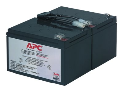 APC Replacement Battery Cartridge #6 - Batterie d'onduleur Acide de plomb - noir - pour P/N: DLA1500J, SMC1500, SMC15000I, SMT1000, SMT1000I, SMT1000US, SU1000RMI, SUA1000ICH