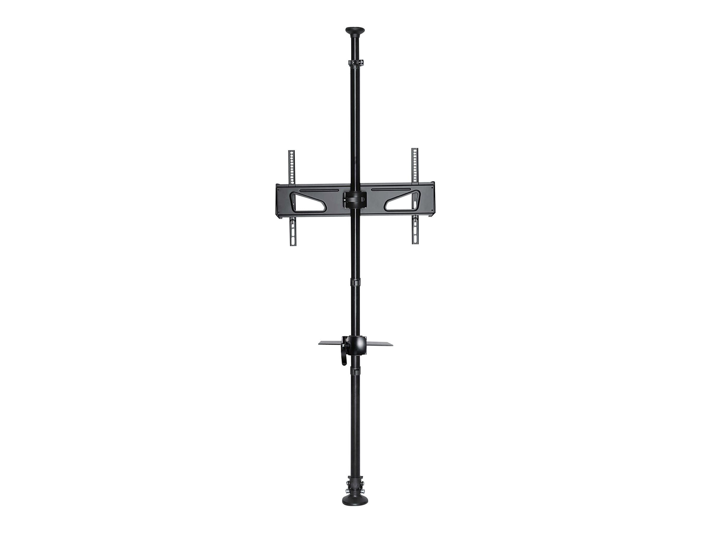 """Tripp Lite Floor-to-Ceiling Mount for 32"""" to 65"""" TVs and Monitors - Height Adjustable, Shelf for A/V Source - mount"""