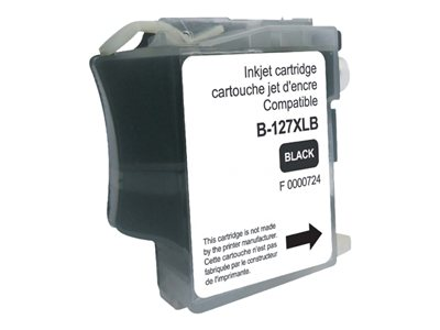 compatibles Brother  Brother LC127XL - compatible UPrint B.127XLB - noir  - cartouche d'encre
