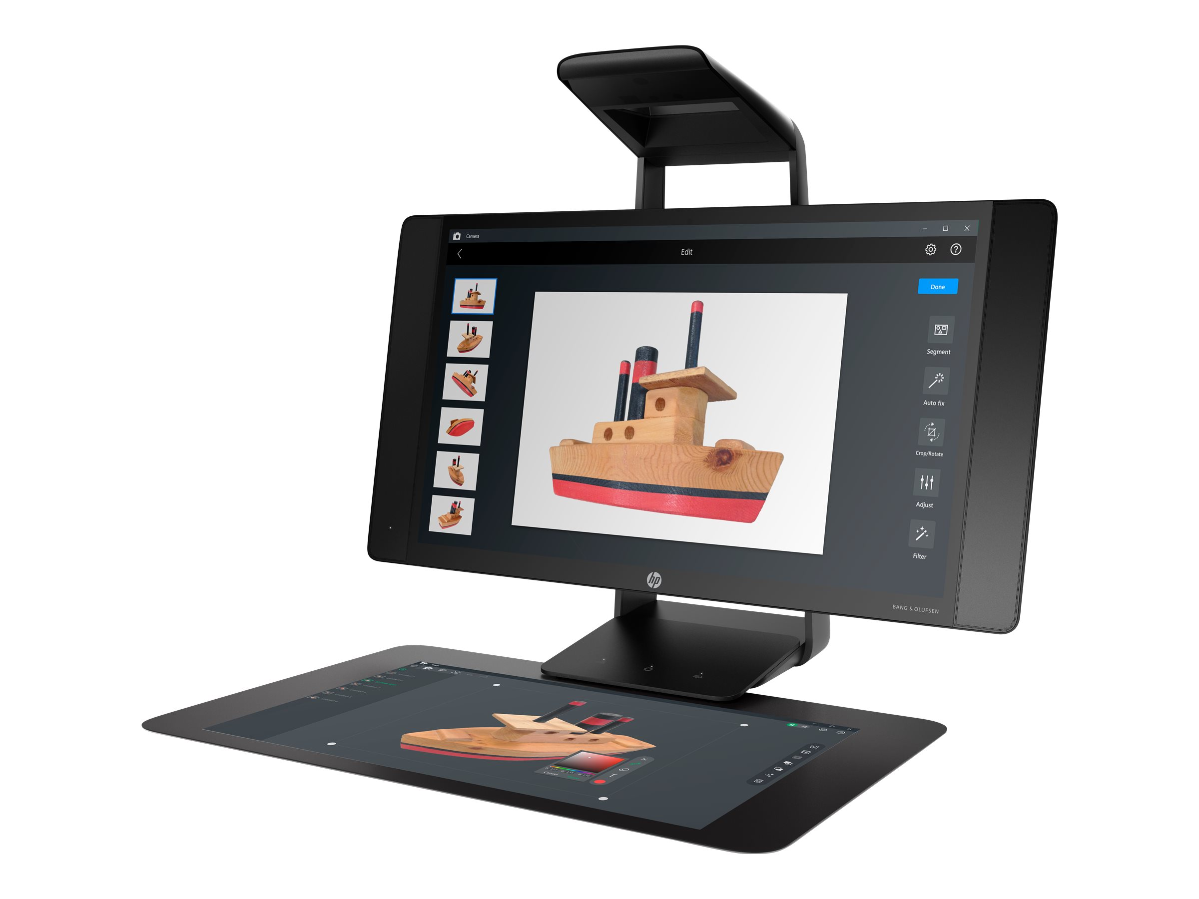 Sprout Pro by HP G2 - All-in-One (Komplettlösung) - 1 x Core i7 7700T / 2.9 GHz - RAM 16 GB - SSD 512 GB - GF GTX 960M / HD Graphics 630