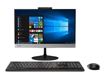 "Lenovo V410z 10QV - All-in-one - with monitor stand - 1 x Core i5 7400T / 2.4 GHz - RAM 4 GB - HDD 500 GB - DVD-Writer - HD Graphics 630 - GigE - WLAN: Bluetooth 4.0, 802.11a/b/g/n/ac - Win 10 Pro 64-bit - monitor: LED 21.5"" 1920 x 1080 (Full HD) - TopSeller"