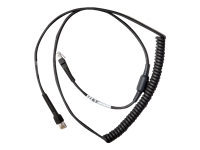 Zebra - Serial cable - RS-232 (M) to RS-232 (M) - 9 ft - coiled - for Digital Scanner DS9308; Zebra DS2278, DS4308, DS4608, DS9908; DS8100 Series; DS9300 Series
