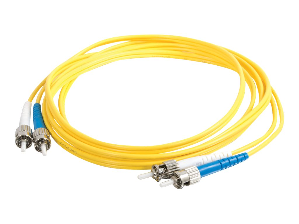 C2G 6m ST-ST 9/125 Duplex Single Mode OS2 Fiber Cable TAA - Yellow - 20ft - patch cable - TAA Compliant - 6 m - yellow