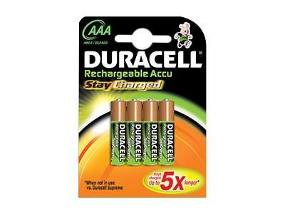 Duracell StayCharged - Batterie 4 x AAA-Typ NiMH 800 mAh