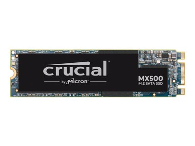 Crucial MX500 - Solid state drive - encrypted - 1 TB - internal - M.2 2280 - SATA 6Gb/s - 256-bit AES - TCG Opal Encryption 2.0